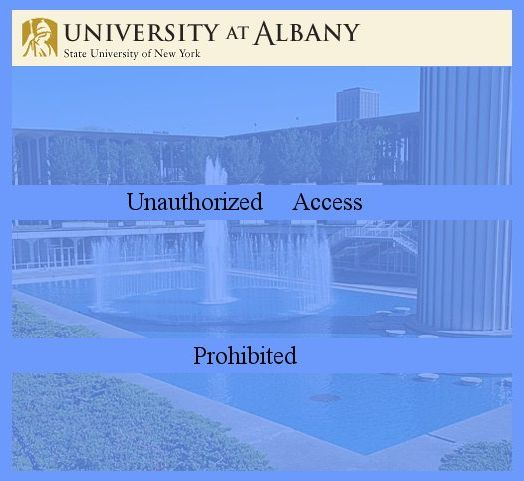 University at Albany-unauthorized access prohibited